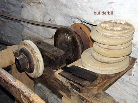 a belt drive grindstone