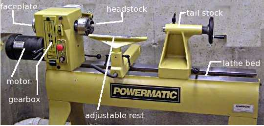 A small hobby style lathe