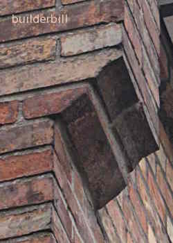 purpose made brick corbels