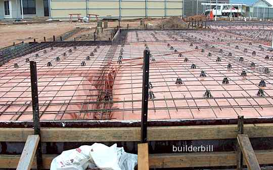 raft foundation ready to pour