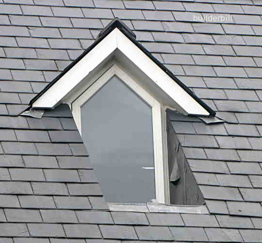 a recessed dormer window