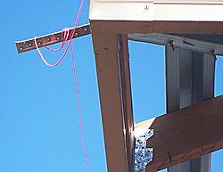 string line at eaves