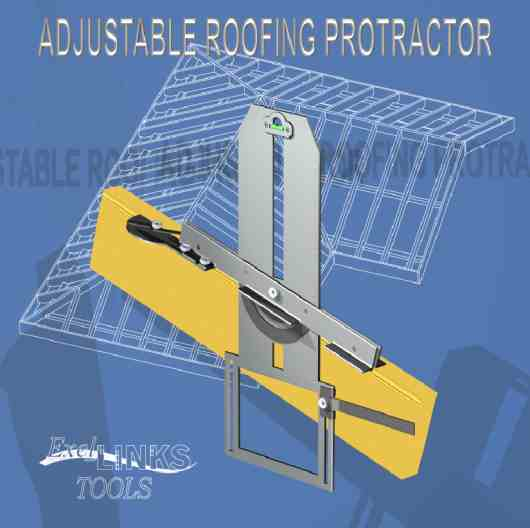 adjustable roofing protractor