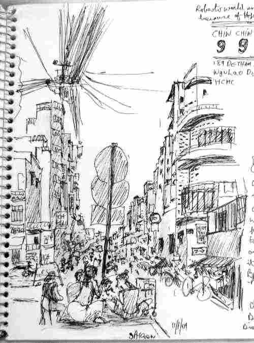 De Tham street saigon