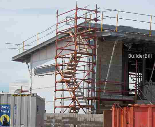 scaffold stair tower for roofers