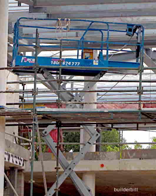 a scissor lift platform
