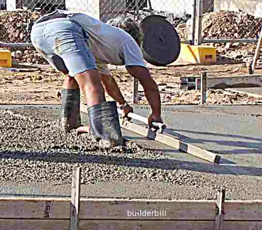 using a screed