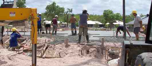 screeding a house slab