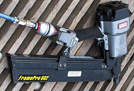 A Senco air nail gun