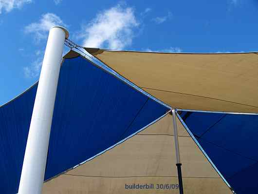 large shade sail