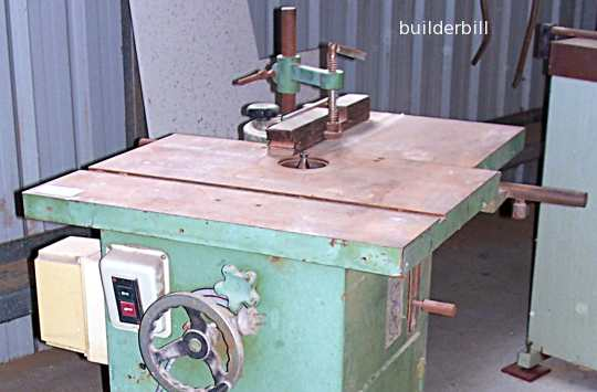 spindle moulder with sliding tabel