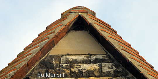 gable end treatment of roof tiles