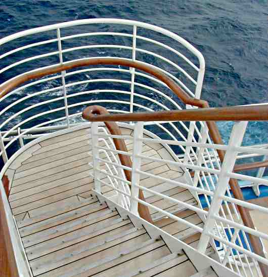 cruise ship stairs