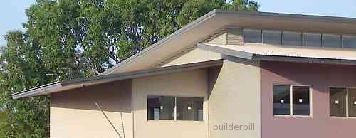 modern skillion roofs