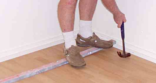 fixing baseboards