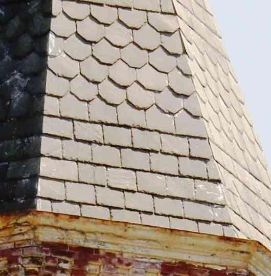 slate roofing on a steeple