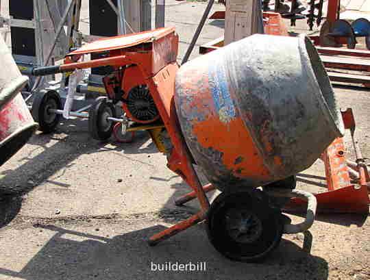 a small concrete mixer