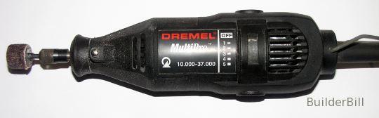 A dremel multi-tool