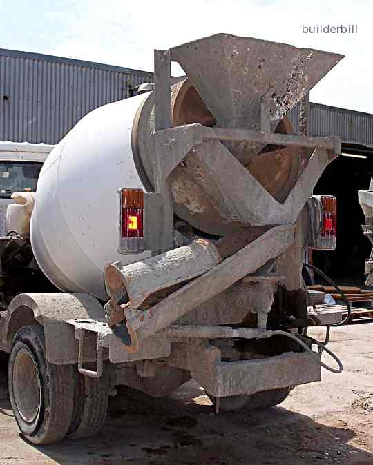 a small transit concrete mixer