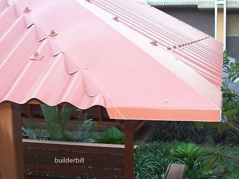 Colourbond Hip  on Custom Orb roof