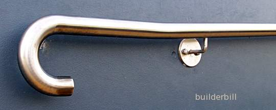 a wall handrail