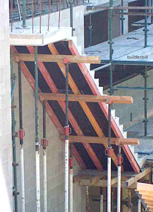 formwork for a stair soffit