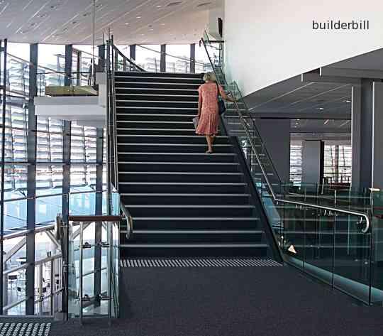 a modern stairway