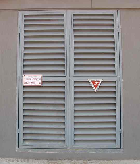 All steel louvre doors