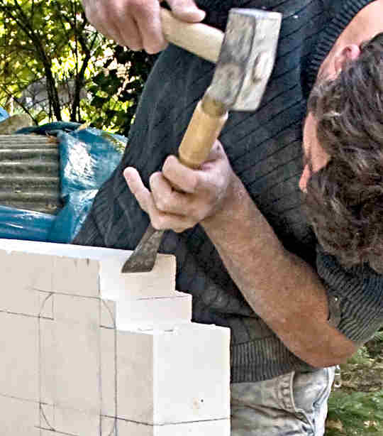 a stonemason at work