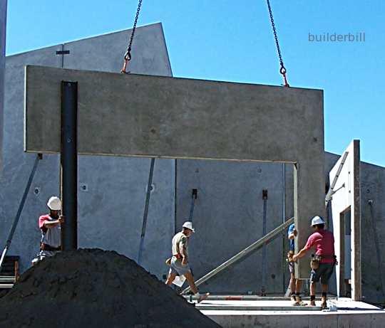 steel strongback on a tilt panel
