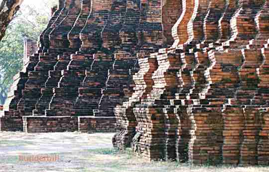 thai brick temple ruins