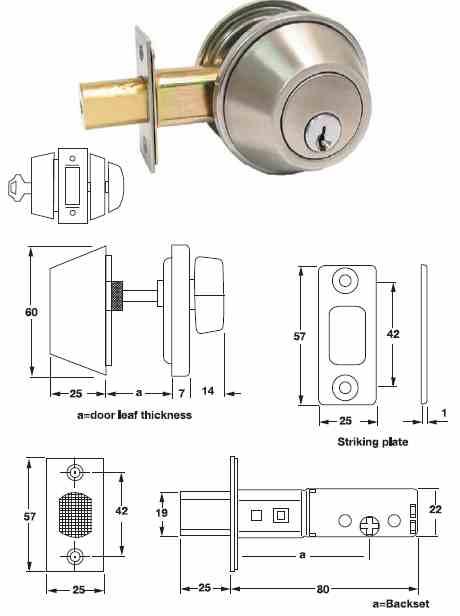 A thumbturn dead lock