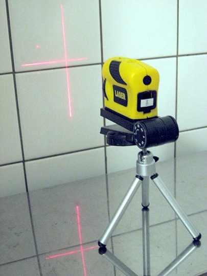 A smaller laser light specially for ceramic tile work