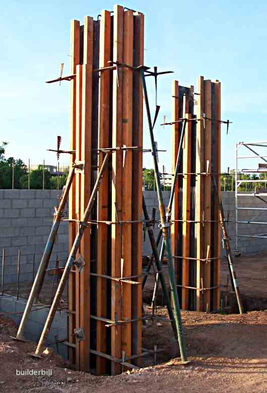 timber and ply column forms