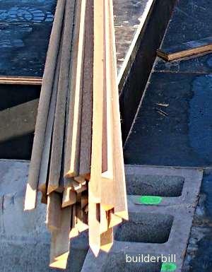 timber formwork fillets