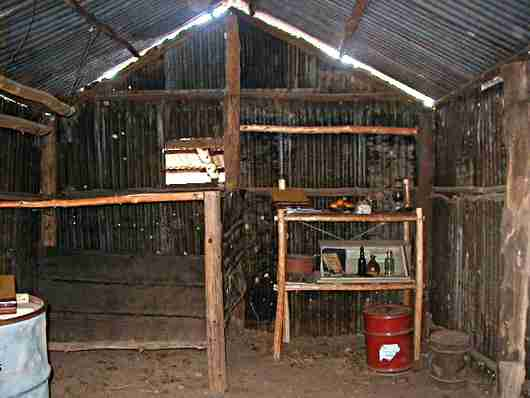 Interior of a stockman's homestead