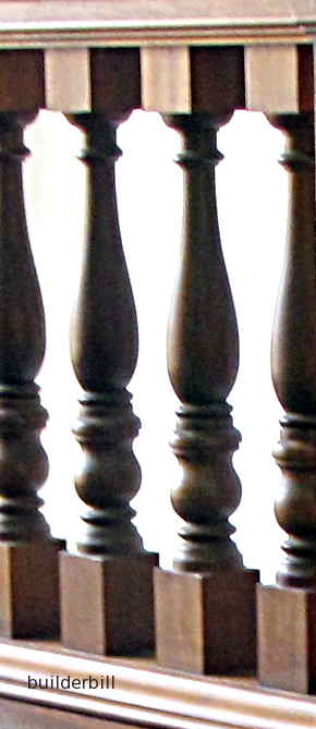 traditional turned timber balusters