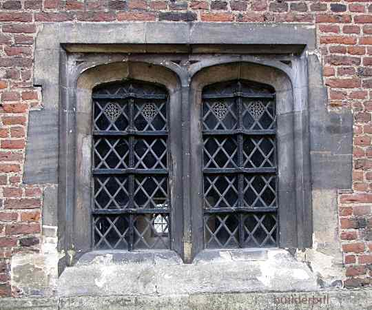 a tudor arched window