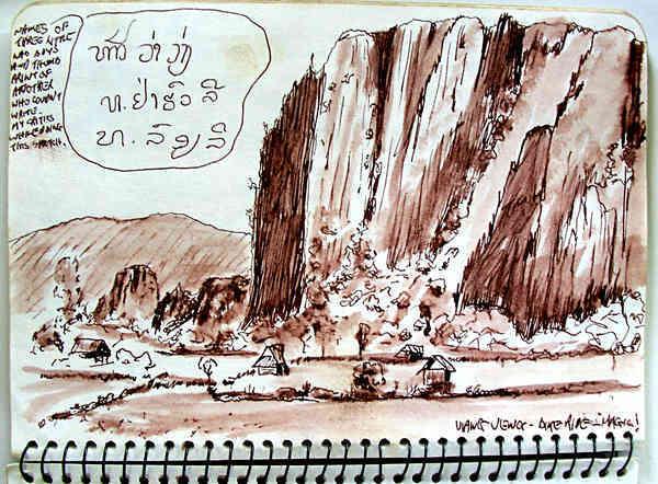 karst outcrops, Vang Vieng Laos