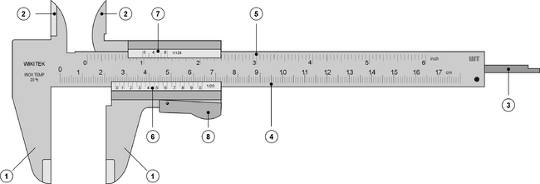 the parts of a verner gauge