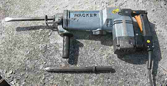 One of the larger rotary hammer drills