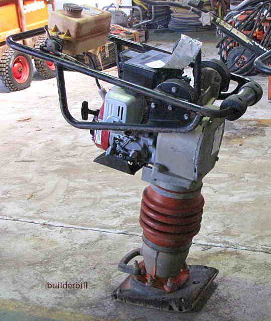 a small plate compactor.
