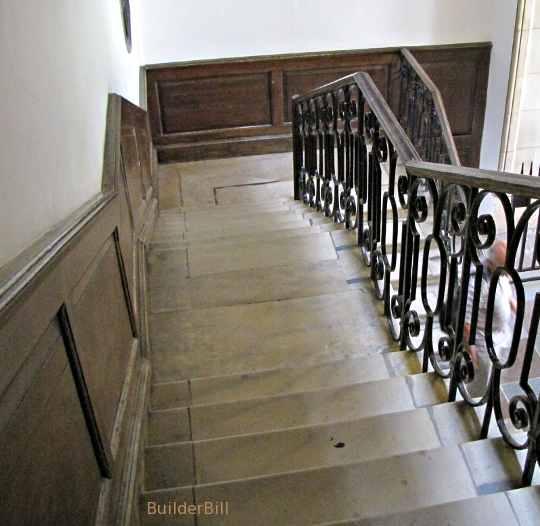 wainscot at a stair