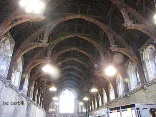The Hammer beam roof at Westminster Hall