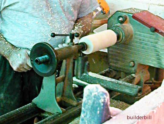 a wood turning lathe