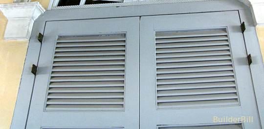fixed louvre doors