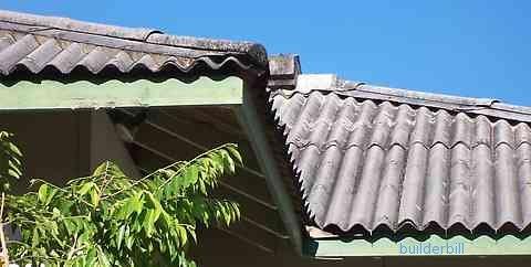 fibrous asbestos cement FAC roof