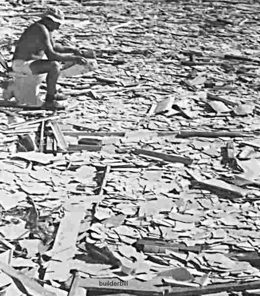 asbestos danger on a worksite in 1973
