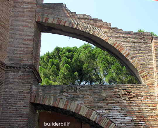 A flying buttress at Ravenna
