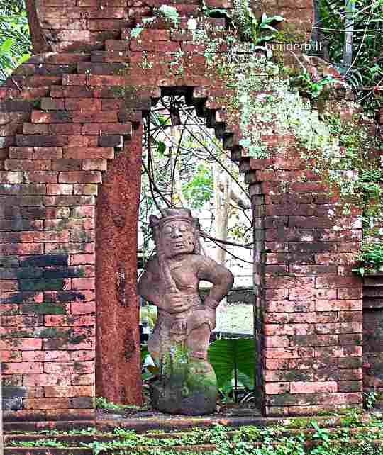 a corbelled arch in Bali